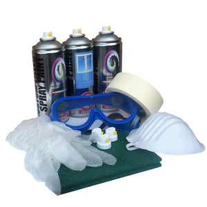 PVC Spray Paint 3 Pack Gloss Finish, 2 x PVC, 1 x Prep Clean, Goggles & More - monster-colors