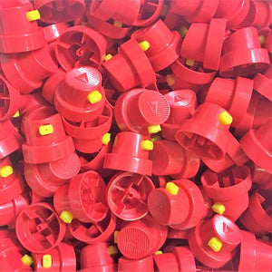 Red & Yellow Fan Cap 8cm Spray - monster-colors