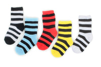Stay On Baby Sock Red Black Stripe