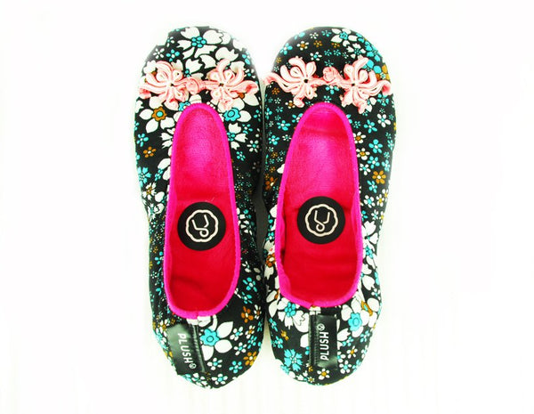 Shanghai Series Indoor Slippers Flowers Adult