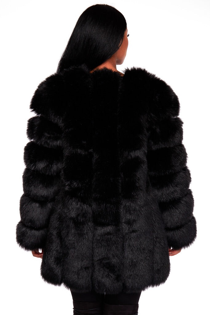 DAHLIA  faux fur coat