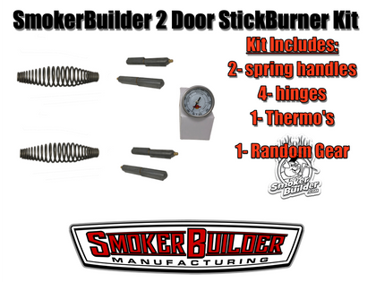 2 Door Stick Burner Smoker Kit