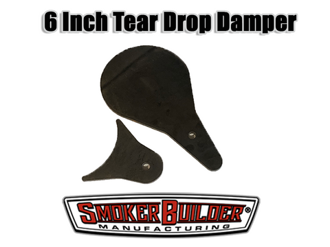 6 Inch TearDrop Smoke stack cover assembly