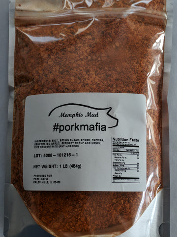 PorkMafia Memphis Mud Rub 1 Pound Bottle