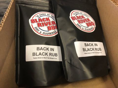 Black River BBQ back in Black Rub 8 oz Resealable Bag