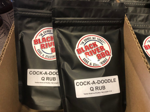 Black River BBQ Cock-A-Doodle Q Chicken Rub 8 oz resealable bag