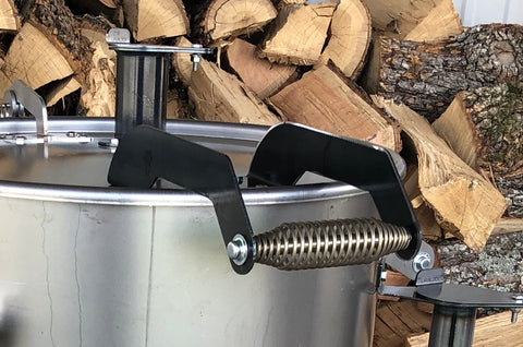 Extended Drop Lid Handle for Drum Cooker