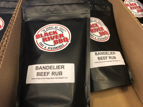 Black River BBQ Bandelier Beef Rub 8 oz Resealable Bag