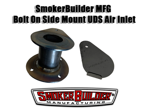1.5 inch side mount tear drop air inlet with mounting flange