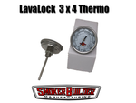 LavaLock 3 inch dial 4 inch stem thermometer