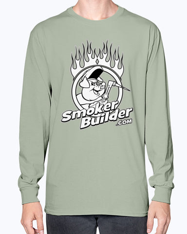 SmokerBuilder Torchy Pig Long Sleeve Tee Shirt