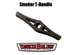 T- handle for smoker warming cabinet damper