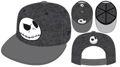 Jack Skellington Huge 950 Gry/ Blk Hthr Snap Back Cap (C: 1-1