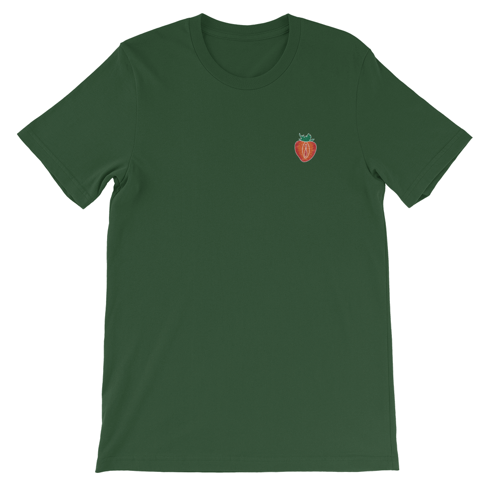 STRAWBERRY Lips T-Shirt Stickerei