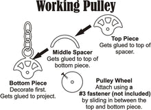 Load image into Gallery viewer, Working Pulley Chipboard Set