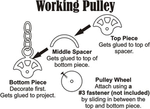 Working Pulley Chipboard Set