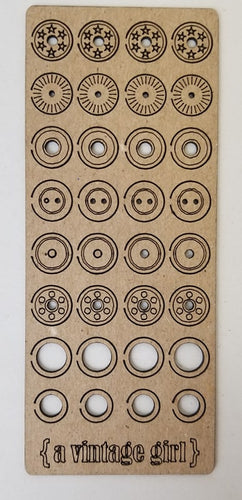 Pop Rivets & Grommets Chipboard Set