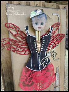 A Vintage Girl Corset- Chipboard Black