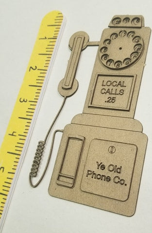 Vintage Payphone/Telephone-Dimensional