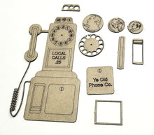 Load image into Gallery viewer, Vintage Payphone/Telephone-Dimensional