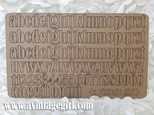Alphanumeric Alpha Set-Chipboard