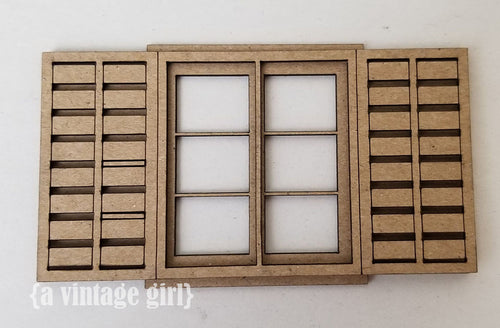 Architectural Window Dimensional Chipboard Set