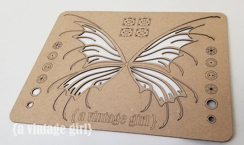 A Vintage Girl Chipboard Wing Set with Hardware