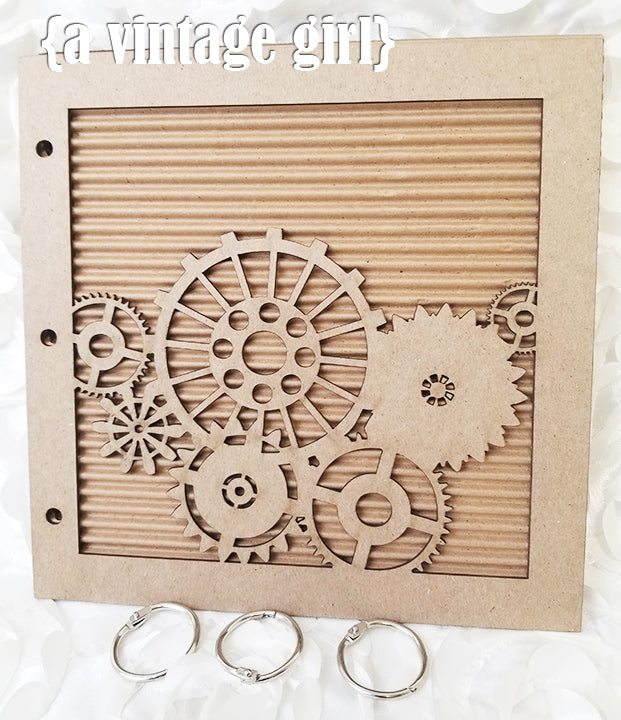 Steampunk Gears Chipboard Album