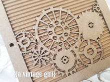 Load image into Gallery viewer, Steampunk Gears Chipboard Album