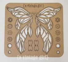 Load image into Gallery viewer, Fairy Wings Chipboard Set with Hardware
