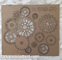 Load image into Gallery viewer, Steampunk Gear Set-Chipboard
