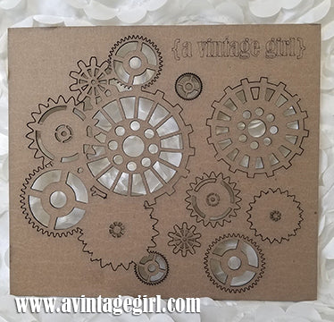 Steampunk Gear Set-Chipboard