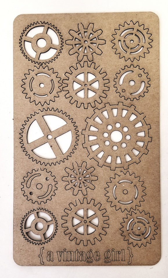 A Gaggle of Gears Chipboard Sheet