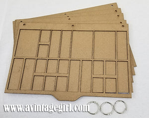 Printers Tray Chipboard Album