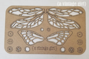 Winging It Chipboard Dragonfly and Butterfly Set