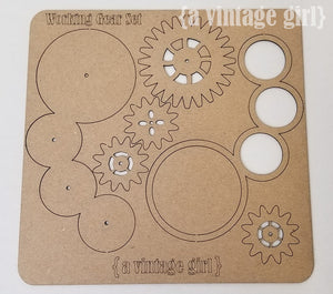 Working Gears Chipboard Set