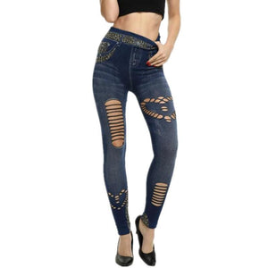 New Faux Jeans Leggings