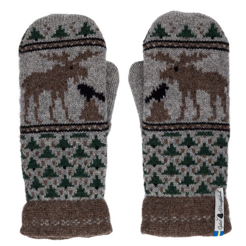 Skogen Pattern Swedish Mittens