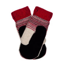 Load image into Gallery viewer, Dalarna Pattern Suede Palm Swedish Mittens