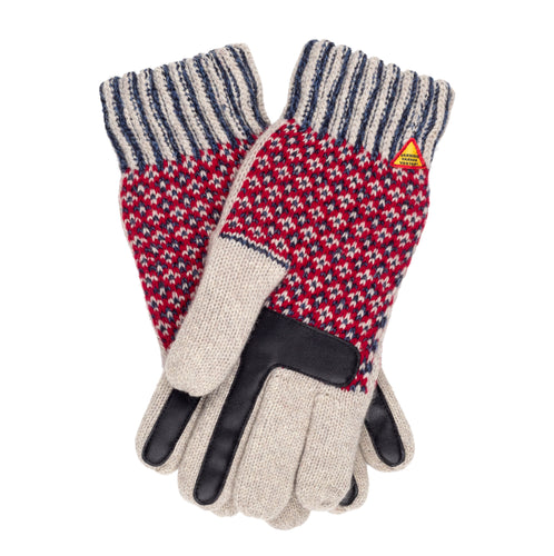 Lycksele Pattern Merino Wool Touchscreen Gloves