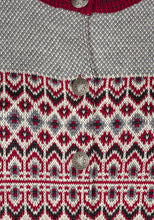 Load image into Gallery viewer, Dalarna Pattern Merino Wool Cardigan Sweater