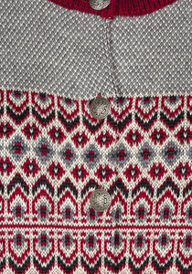 Dalarna Pattern Merino Wool Cardigan Sweater