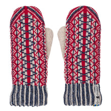 Load image into Gallery viewer, Lycksele Pattern Swedish Mittens Double Merino