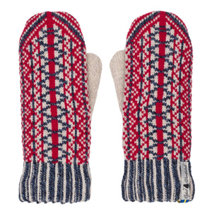 Lycksele Pattern Swedish Mittens Double Merino