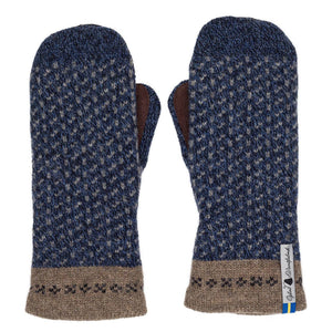 Skaftö Pattern Suede Palm Swedish Mittens