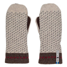 Load image into Gallery viewer, Skaftö Pattern Suede Palm Swedish Mittens