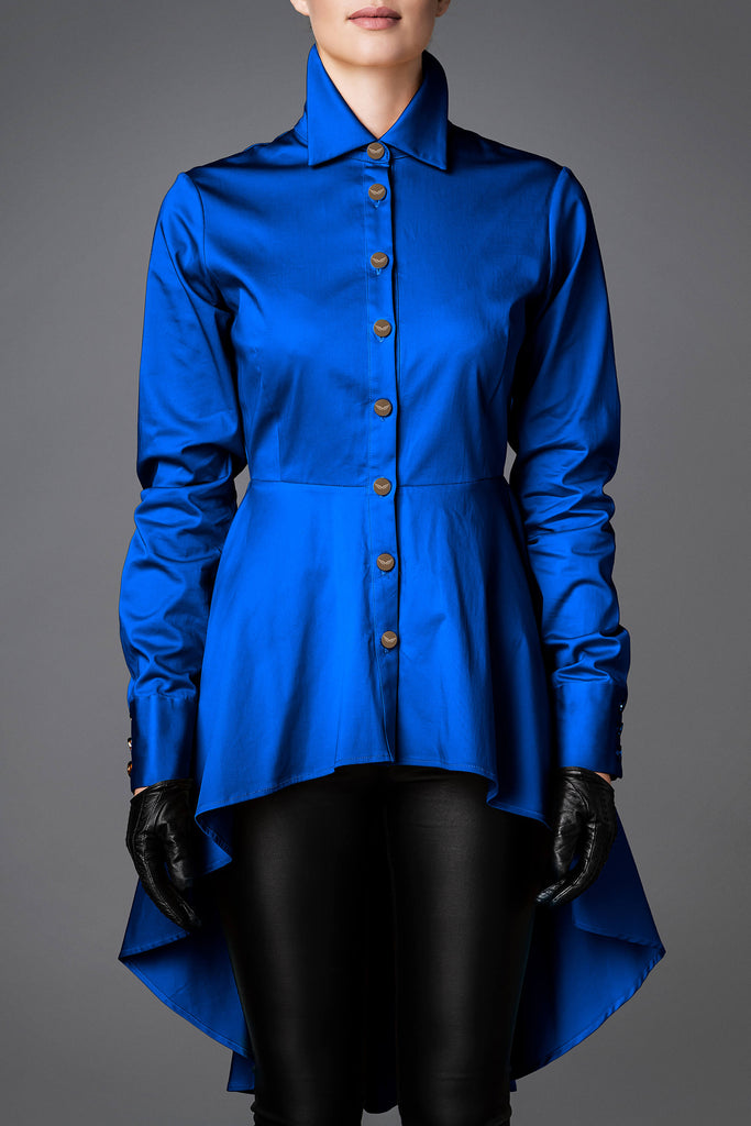 Women's Cotton Shirt - Balance Royal Blue