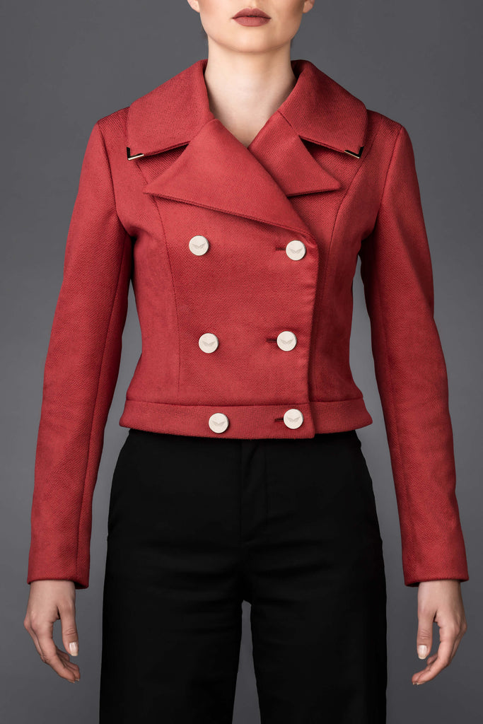 Women's red jacket Greta