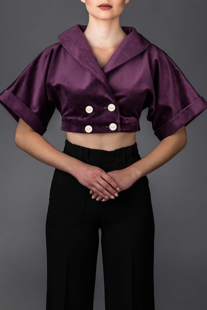 Women's purple jacket Marilyn