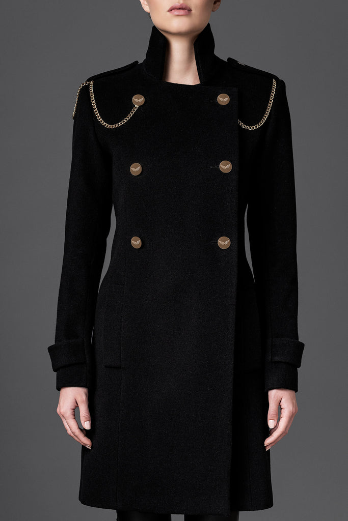Women's Wool Coat - Freedom Black